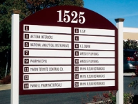 Multi-Use Signage - Increase occupancy rates by upping the professionalism in your office park with a directional sign to drive traffic to the businesses of your tenants.