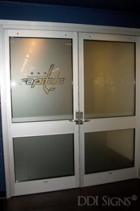 Frosted Glass - Frosted glass offers privacy for your staff and clients. Add your company's logo to continue to drive traffic and build your brand.