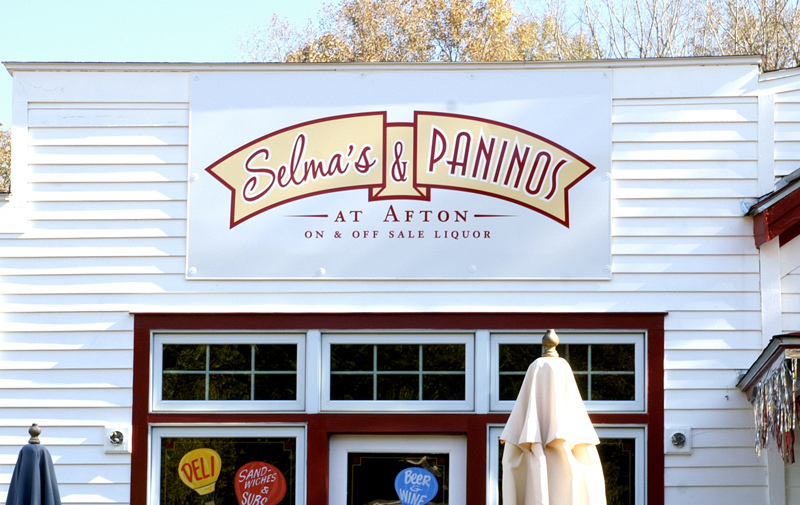 Selma's - Some businesses have prime marketing real estate just over their front door. Let us help you decide on a size and color sign to draw customers to your business.