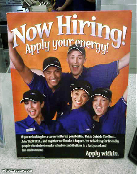 Now Hiring POP Signage